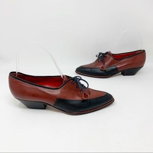 Pancaldi for Eric Couture leather lace-up loafers